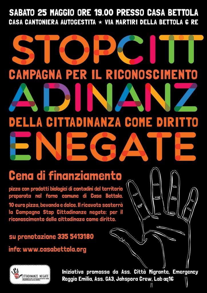 Stop Cittadinanze negate Casa Bettola 25 maggio1