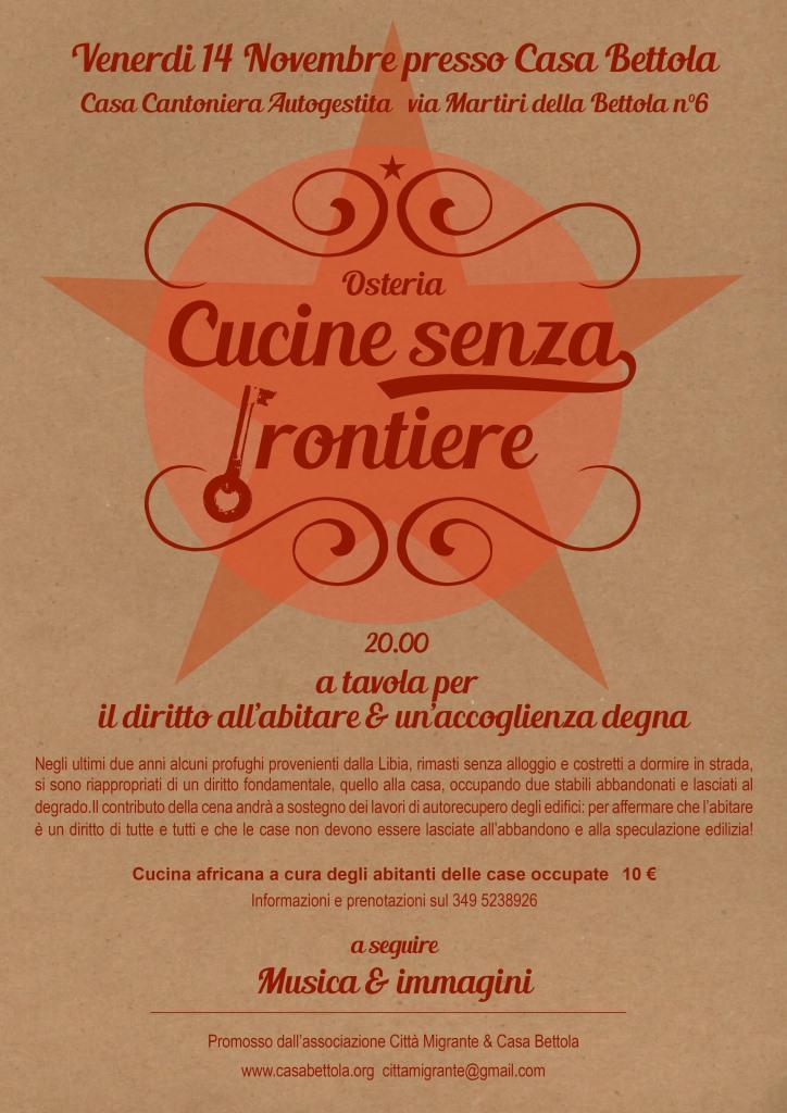 Cucine senza frontiere 14 novembre 2014