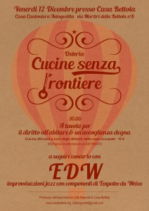 Cucine senza frontiere 12 dicembre
